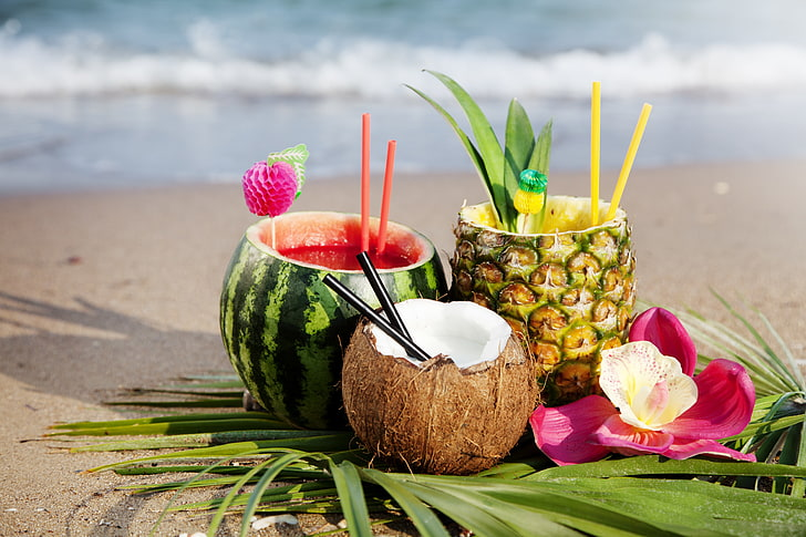 cocktail-watermelon-pineapple-beach-wallpaper-preview
